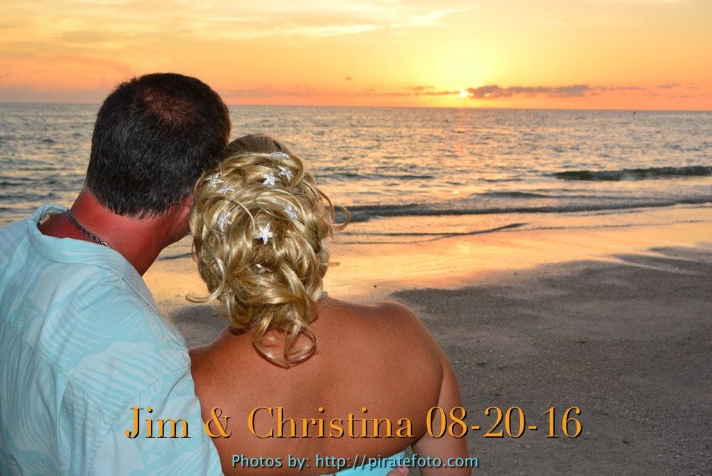 PirateFoto Beach Wedding Shoot ~ Mr. & Mrs Goins ~ Jim & Christina Wed on Indian Shores